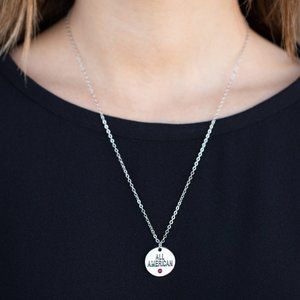 All American All The Time Red Necklace